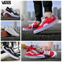 Wholesale hi pro - 2018 new Vans Off the wall Old Skool Sk8-hi Shoes zapatillas de deporte Designer Casual High Top Red White Canvas CLASSIC PRO Sneakers