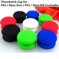 xbox denetleyici durumlarda toptan satış-Ücretsiz kargo Kaymaz Silikon Thumbstick Thumb Kavrama Sopa Joystick Kapak Kılıf Kapak için PS4 / Xbox one / PS3 / Xbox 360 Denetleyici