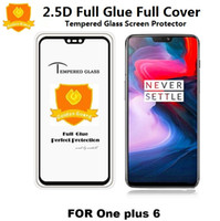 Wholesale oneplus tempered glass online - For Oneplus T T Tempered Glass For Huawei Honor P20 Pro P20 Lite Full Glue Full Cover Screen Protector For Samsung A8 A6 Plus