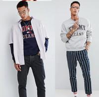 japanische weihnachtskleidung großhandel-Herbst / Winter Designer Mens Hoodie Sweatshirt Langarm Brief Flut Luxus Hoodies Männer Pullover T-shirt Kleidung