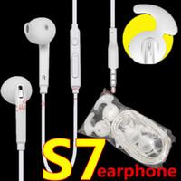 en kaliteli kulaklıklar toptan satış-Kulaklık 3.5mm Kulak Için Mic Ses Kontrolü Ile Kulaklık Samsung s6 S7 S7 kenar Perakende Kutusu Ile Galaxy Kulaklık En Kaliteli
