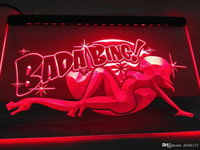 Wholesale signs sexy girls resale online - LB585 r Bada Bing Sexy Nude Girl Exotic LED Neon Light Sign