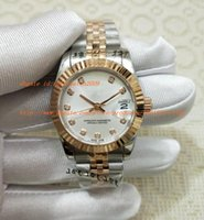 Wholesale dive sticks - Factory Sales AAA WOMEN automatic movement 31MM WOMENS ROSE GOLD STICK DATE JUST with original box Diving watch