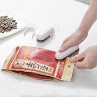 Wholesale hand seal machine - Vacuum Food Keep Fresh Closing Props Hand Pressure Heat Capper Household Convenient Mini Snacks Plastic Bag Sealing Machine 7 4tq Z