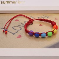 Wholesale colored beads for bracelets for sale - Group buy New Design Colored Beads Bracelet Woven Rope Braided Bracelet Handmade Fashion Jewelry For Friendship Lover Christmas Gift