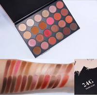 Wholesale earth eyeshadow palette - Factory Direct DHL Free ShippingNEW HOT brand 24G Eye Shadow 24 Colors Eyeshadow Palette Earth Color Lady Nude Eyeshadow Palette Eye Shadow