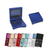 Wholesale console shells resale online - Housing Shell Case Cover Replacement Handle Game Console Part For GBA SP For Gameboy Advance SP DHL FEDEX EMS