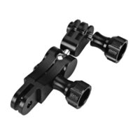 Wholesale gopro camera gimbal for sale - Group buy Black Aluminum Gimbal Adapter for Xiaomi Yi Gopro SJcam Sports Action Camera with quick release plate
