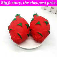 Wholesale dragon fruits resale online - Squishy dragon fruit cm huge Slow Rising Soft Squeeze Cute Cell Phone Strap gift Stress children toys Decompression Toy