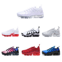 Wholesale light purple lace - HOTSALE New Vapormax Plus TN VM Triple Black Run In Metallic Mens Designer Shoes Men Running Trainers Women Luxury Brand Sneakers