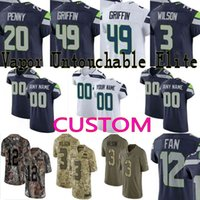 custom Men youth women Seattle Shaquem Griffin Russell Wilson Michael  Dickson Shaquill Camo Salute to Service Seahawks Elite Jersey 20388c33d