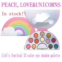 Wholesale Hot Festival - Newest makeup palette Faced Life's A Festival 13colors Peace love eyeshadow Palette High quality DHL shipping hot new