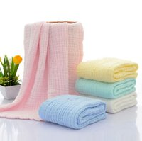 Wholesale wholesale white muslin - 105*105cm Muslin Newborn Baby Blanket Bedding Wrap Swaddle Bath Towel Blanket Soft Sleeping Swaddle Bath Towels OOA4469
