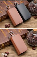 genuine leather key case holder 2021 - Genuine Leather Car Key cover Wallets Men & Women Multi Function Car Key Case Fashion Housekeeper Key Holders