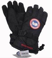 Wholesale Finger Warmers - Canada Windproof Gloves Big Flower Rabbit Snowflake Gloves Outdoor Winter Luxury Brand Keep Warm Mittens For Women Men Extra warm glove