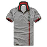 outdoor-shirts für männer großhandel-2018 Heißer Verkauf! Modischer Streifendruck Freizeitbekleidung Kurzarm Poloshirts Outdoor Trend 100 Herren Kurzarm T-Shirt. M-3XL Größe