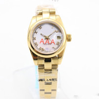 Wholesale classic watch mechanical woman - luxury brand watches Roli DAY Classic Women Automatic Mechanical Watch DATE 26mm AAA Quality watch Stainless Steel Watch royal oaks 99