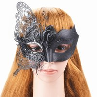 Wholesale princess mask for children online - New Arrival Women Metal Mask Imitation Crystals Ball Prom Princess Venetian Party Mask For Girls
