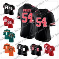 preços de camisola de futebol venda por atacado-Ohio estado Buckeyes # 54 Billy preço 6 Sam Hubbard Jessie Bates III preto branco laranja vermelho 2018 projecto NCAA College Football Jerseys