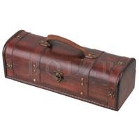 aa batteriekastenabdeckungen großhandel-BQLZR Exquisite und Schöne Retro Holz Vintage Wein Geschenk Aufbewahrungsbox Fall Halter