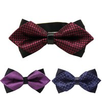 Wholesale commercial ties - Fashion 20Colors High Quality Print Commercial Fashion Women Men Popular Butterfly Cravat Bow Ties Formal Commercial Bow Tie