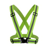 Wholesale Black Race Harness - Wholesale-360 Degrees Vest Working Warning Harness Outdoor Sports Cycling Riding Racing Fluorescent Tops Safety Reflective Strips Jacket