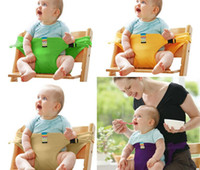 Wholesale belts children - Baby Portable Seat Children Dining Chair Belt Candy colors Eat Chair Seat Belt Dining Seat Harness Baby Belt Safety KKA4048