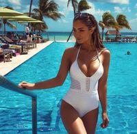 tek parça banyo uygun arkalıksız toptan satış-2018 Yeni Varış Backless One Piece Mayo Siyah Bayan Seksi Mayo Yeni Yüzme Mayo Bayanlar Bikini Ücretsiz kargo Oymak