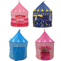 Wholesale playing girl tent - Fashion Folding Playhouse Removable Yurts Shape Princess Castle Play Game Tent Cute Tickle Castle Tents For Boys And Girls 33ly B