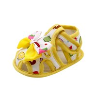 Wholesale slip sandals infants online - ARLONEET Newborn Sandals Infant Baby Girls Summer Bow Soft Sole Toddler Anti slip Shoes to Years Drop Shipping S515
