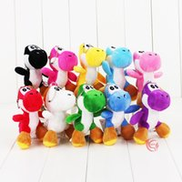 Wholesale Yoshi Plush Sale - Hot Sale 10pcs Lot YOSHI 10cm Super Mario Bros Plush Dolls Stuffed Animals Keychain phone & Bag