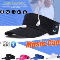 Wholesale ipad handfree - Bluetooth Music Tennis Cap Beanie Hat Outdoor Sport Desgin Wireless Headphone Support Phone Call Mic Handfree Headset For Smart Phone iPad