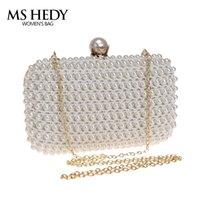 bride bag achat en gros de-MS HEDY Nouveau Design Sac à Main Embrayage Mini Sacs À Main Des Femmes De Mode Sac De Soirée Diamant Perle De Poche De Noce Bride Forfait Nuit
