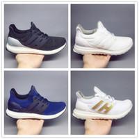 Wholesale triple core - 2018 ultra boost 4.0 3.0 core Triple Black white Primeknit Runner fashion ultraboost Running sneaker sports shoes for men women Eur36-47