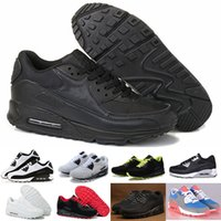 Wholesale Canvas Cushions - Mens Sneakers Shoes classic 90 Men and women Running Shoes Black Red White Sports Trainer Air Cushion Surface Breathable Sports Shoes 36-46