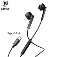 Wholesale Mobile Fone - Baseus C16 Type-C Earphone, Digital Hifi Wired Control Earbuds kulakl k fone de ouvido With Mic for USB Type-c jack mobile phone