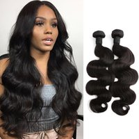 Wholesale Thick Brazilian Hair Bundles - Thick Human Hair Weave 2pcs lot Brazilian Body Wave Natural Color Hair Extensions 8''~24'' Julienchina Bella Hair Bundles U.S. Free Shipping