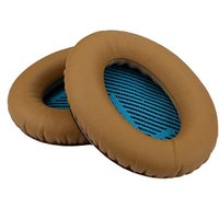 Wholesale wholesale replacement cushions - OKCSC Replacement Earpads Cover Headphones Ear Cushions Exchange Sponge Ear Pad 2 Pieces Set for Bose QC2, QC15, QC25, AE2i, AE2 earphone
