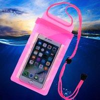 iphone water seal оптовых-Сильный 3 слоя герметизации водонепроницаемый смарт-телефон сумка для водных видов спорта плавание дайвинг сумка с ремешком для iPhone карманный чехол