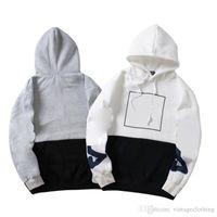 8ca9d5f95 Invierno otoño hombre mujer manga larga diseñador Hoodies coreano suelta  moda gris suéter blanco sudaderas tamaño M-2XL