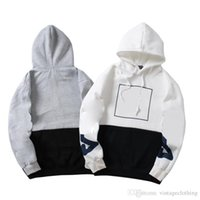 camisola coreana dos homens da forma venda por atacado-Outono inverno Dos Homens Das Mulheres Designer de Manga Longa Hoodies Coreano Solto Moda Cinza Camisola Branca Camisolas Tamanho M-2XL