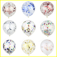 Wholesale toys balloons kids online - Colorful inch Confetti Balloons Clear Latex Balloon for Wedding Decoration Happy Birthday Baby Shower Party Supplies for kids toys