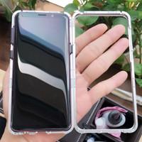 металлические флип-чехлы оптовых-Чехол для Samsung Galaxy S9 с магнитной адсорбцией и роскошным металлическим закаленным стеклом Задняя крышка для Samsung S9 Plus
