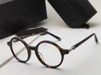 marcos de gafas unisex de metal redondo al por mayor-Gafas redondas de anteojos redondos ELSTER de plata negra Ópticos hombres gafas de diseñador de lujo gafas unisex Nuevo con estuche