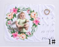 fleece-stoff für baby-decken großhandel-Reizendes Stoffmattenbaby legen für Hintergrundvliesfotografie-Hintergrund swadding des Gewebehintergrundvliesblumen-Rotwilds weiche Decken