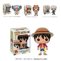 Wholesale one piece action figure pop - One Piece Funko POP Luffy Tony Tony Chopper Trafalgar`Law Ace Action Figures PVC Anime Toys Japanese Cartoon Doll Toys For Collection 10cm