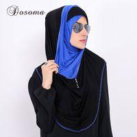колпачок абая оптовых-Muslim Underscarf Bonnet Cap Inner Hat Hijab Scarf Full Cover Headscarf Abaya Turban Headgear Hooded Instant Arab Islamic