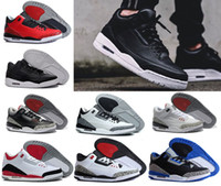 Wholesale Infrared Hunting - 2018 Men 3 3s basketball shoes white black cement infrared 23 wolf grey high Quality sports sneakers US 8-13