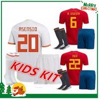 Wholesale Boys Shirts Sale - 2018 Spain kids kit Jersey ISCO PIQUE SERGIO RAMOS A. INIESTA M. ASENSIO THIAGO MORATA soccer child boy shirt Football uniforms sales Spain