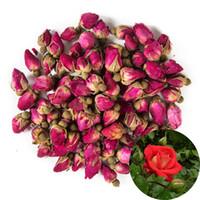 ingrosso fiori secchi rossi-Fiori secchi organici fragranti naturali dei germogli di rosa rossa dei petali all'ingrosso, alimento gastronomico